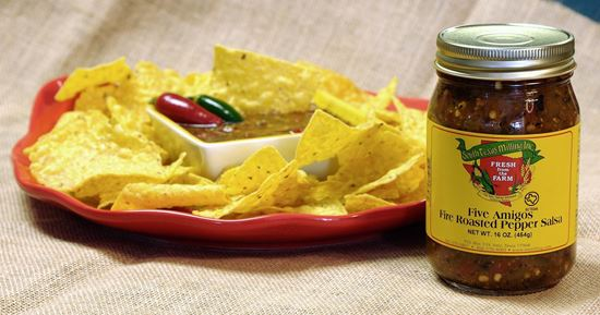 Picture of Five Amigos Pepper Salsa (Hot)